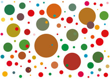 Background With Colored Dots Of Different Colors