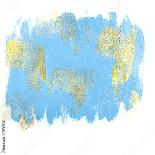 Blue acrylic background with gold spots  Festve golden blue