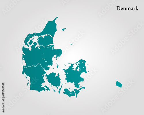 Fotografía Map of Denmark