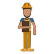 Worker avatar full body icon vector illustration graphc design