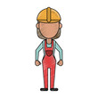 Woman construction worker icon vector illustration graphic design