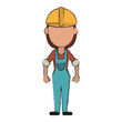 Worker avatar full body icon vector illustration graphic design