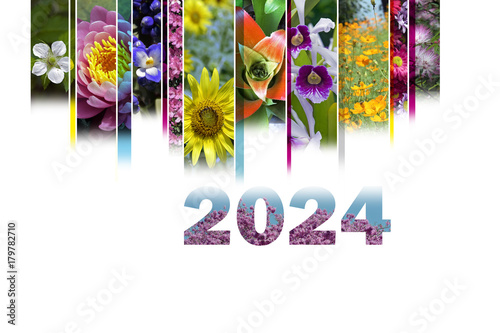 Fotografia  2024 with floral motif very cheerful and colorful