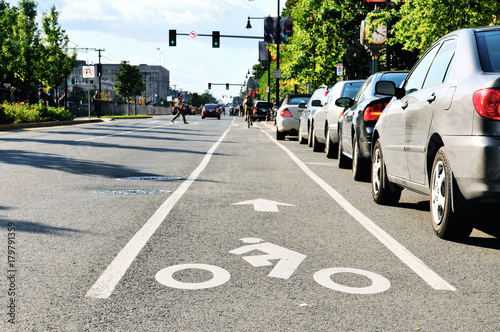 Photo Bike Lane In The City