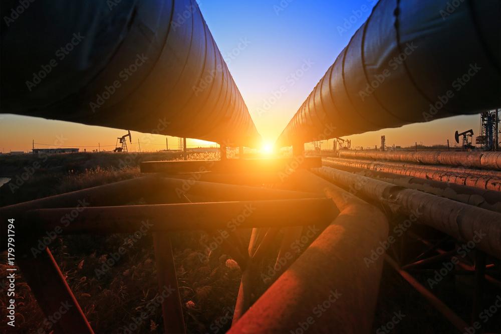 Fototapety, obrazy: Oil pipeline, industrial equipment