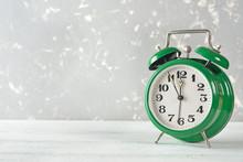 Vintage Green Alarm Clock