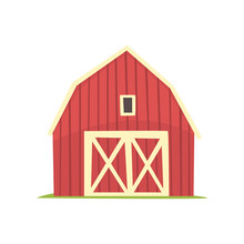 Red Barn, Wooden Agricultural ...
