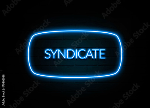 Photo  Syndicate  - colorful Neon Sign on brickwall