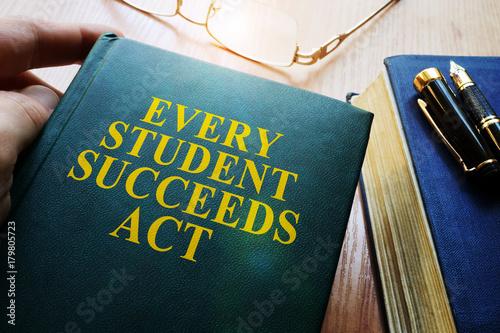 Tablou Canvas Every Student Succeeds Act ESSA on a desk.
