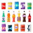 Soft drinks bottles