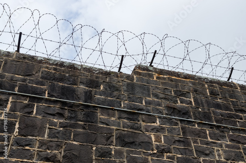 Fotografía Bluestone prison walls at J Ward in Ararat, Australia