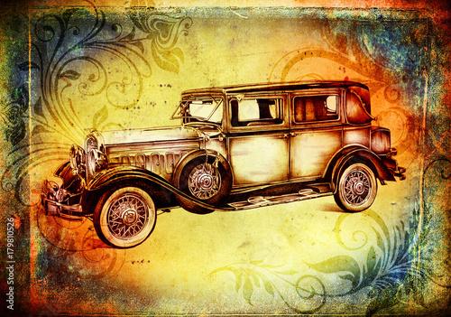 stary klasyczny samochód retro vintage