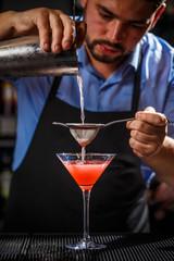 FototapetaBartender is making cocktail
