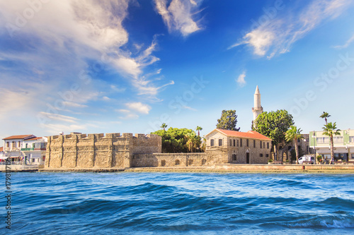 Spoed Foto op Canvas Cyprus Beautiful view of the castle of Larnaca, on the island of Cyprus
