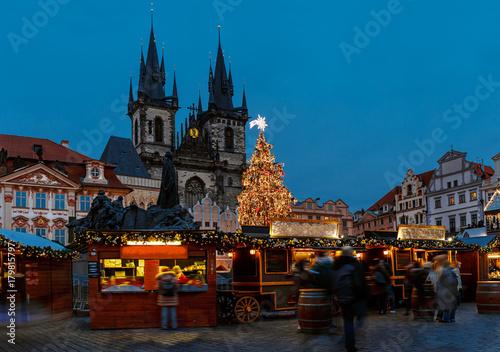 Keuken foto achterwand Oost Europa Christmas market on the Old town square in Prague - Czech Republic
