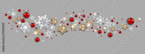 Fotobehang - Holiday decor banner