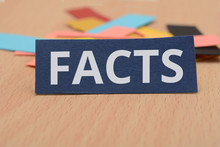 Paper Card Design With Word Facts On It