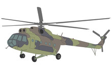 Mi-8 Helicopter Illustration -...