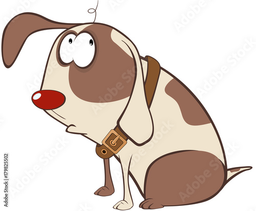 Papiers peints Chambre bébé Illustration of a Cute Hunting Dog. Cartoon Character