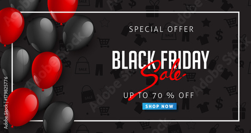 Fotografia  Black Friday sale inscription design template