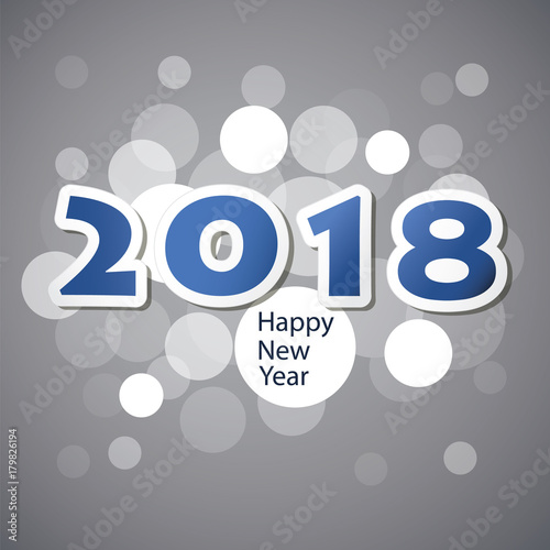 best wishes new year card cover or background design template 2018
