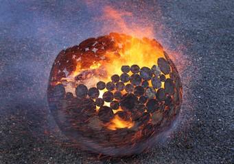 Feuerkorb aus Eisen