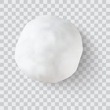 Realistic Snow Ball Vector Ill...