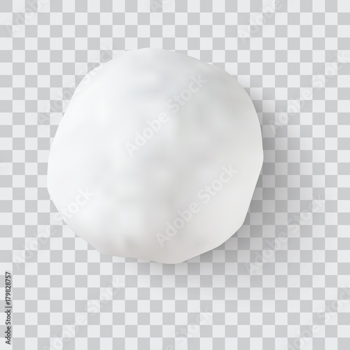 Fototapeta realistic snow ball vector illustration