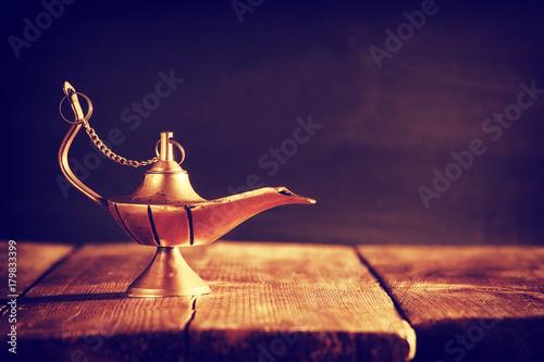 Fototapeta Image of magical aladdin lamp. Lamp of wishes. obraz