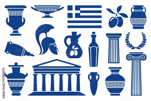 Photo Symbols of Greece