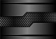 Abstract gray metal circle mesh in dark metallic design modern futuristic background texture vector illustration.
