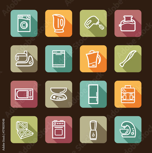 Kitchen Home Appliances Vector Illustration Buy This