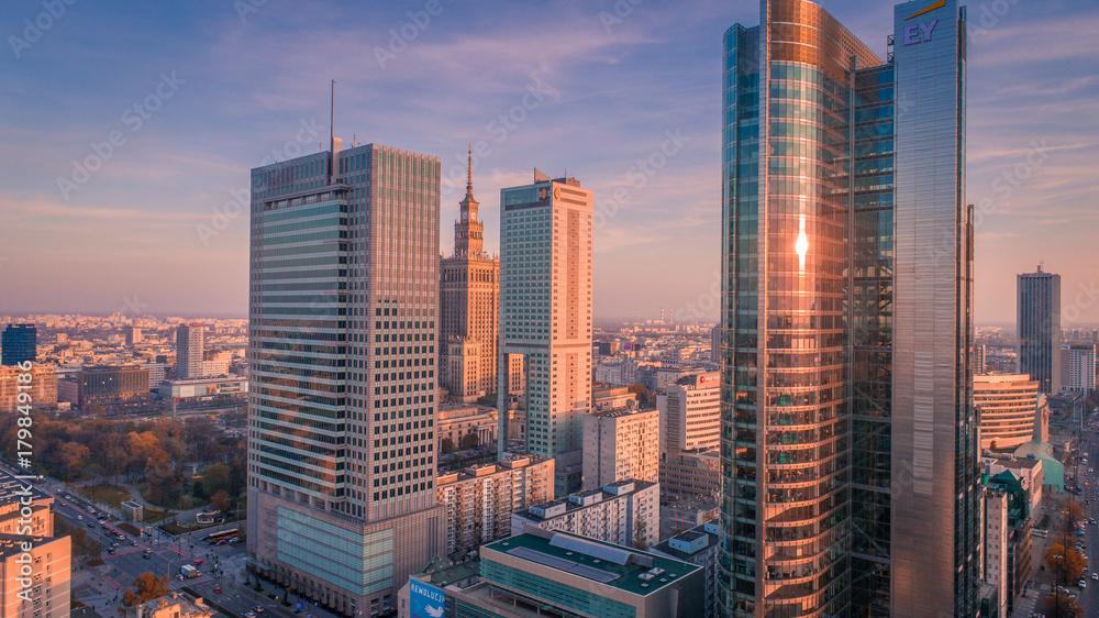 Fototapety, obrazy: Warszawa z lotu ptaka