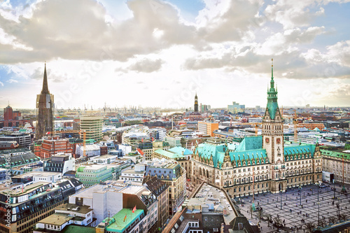 Fotomural  Hamburg city hall, Germany