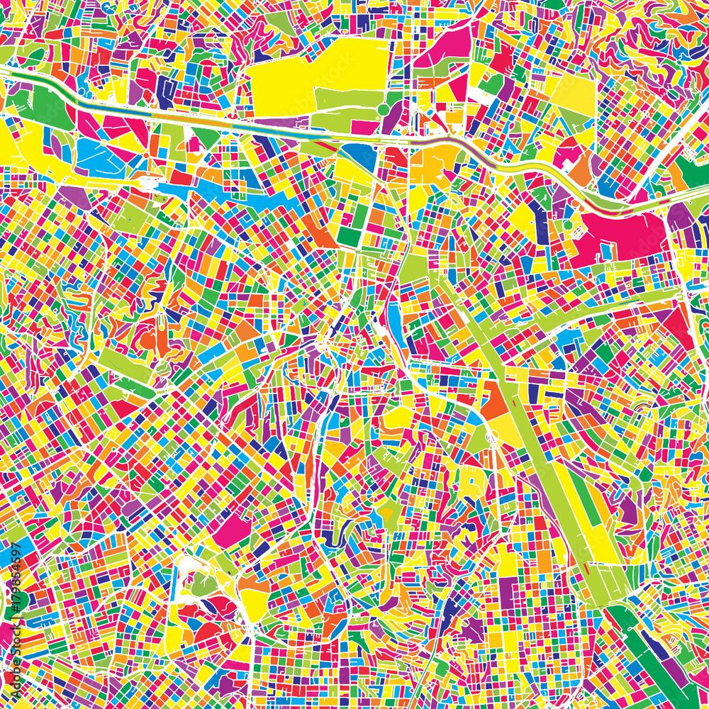 São Paulo, Brazil, colorful vector map Foto, Poster, Wandbilder bei ...