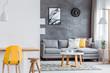 Leinwanddruck Bild - Open minimal living room interior