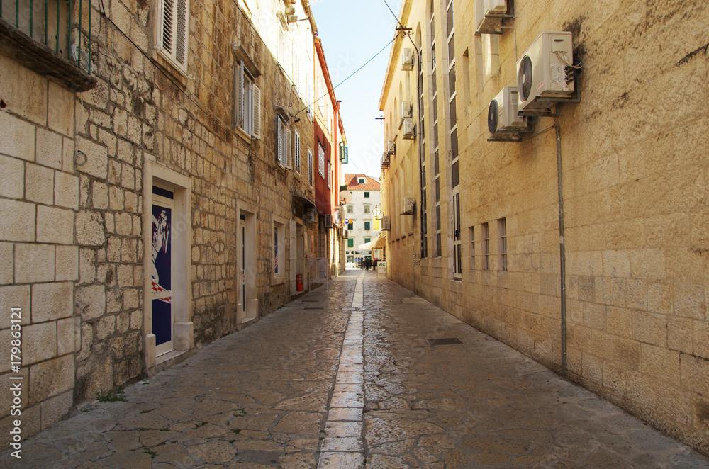 Fototapety, obrazy: brukowana uliczka