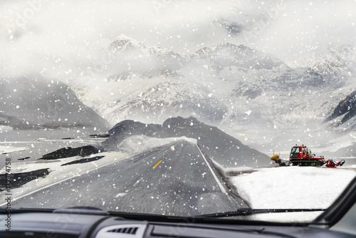 Plakat Jedź ze śniegiem
