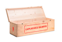 Explosive Cargo On A White Bac...