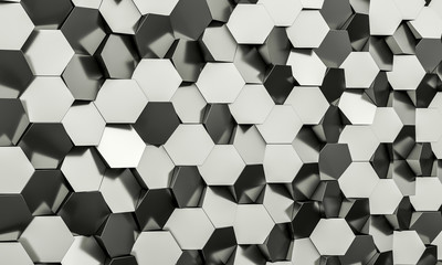 hexagon geometric background