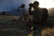 canvas print picture - Archery Hunter