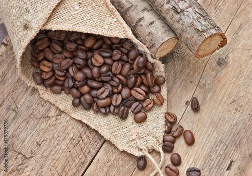 Fotografija coffee beans in a bag