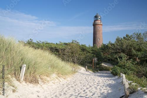 Foto op Aluminium Vuurtoren Leuchtturm Darßer Ort