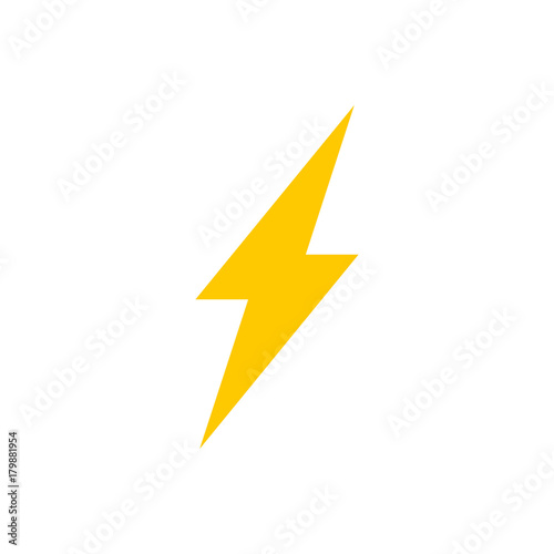 Valokuva  Lightning bolt vector icon