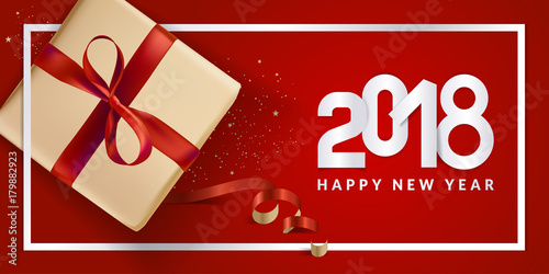 Modern new year 2018 greeting card design vector illustration modern new year 2018 greeting card design vector illustration concept for greeting cards web m4hsunfo