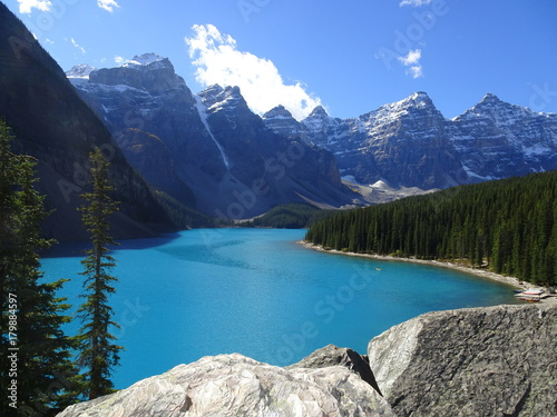 Poster Bergen Moraine Lake in Banff National Park in Canada