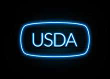 Usda  - Colorful Neon Sign On ...