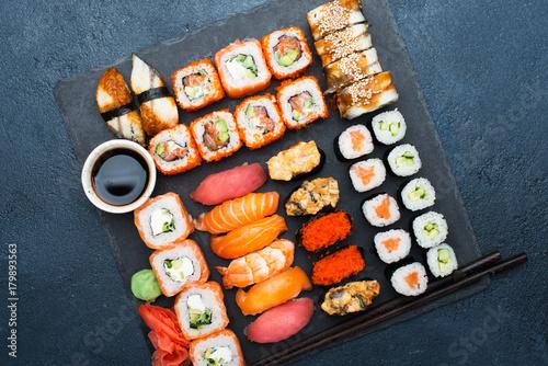Japanese food sushi Canvas Print