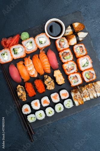 Photo  Japanese food sushi