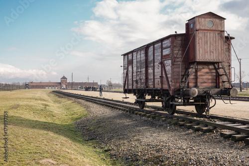 Spoed Foto op Canvas Oost Europa Auschwitz, Poland